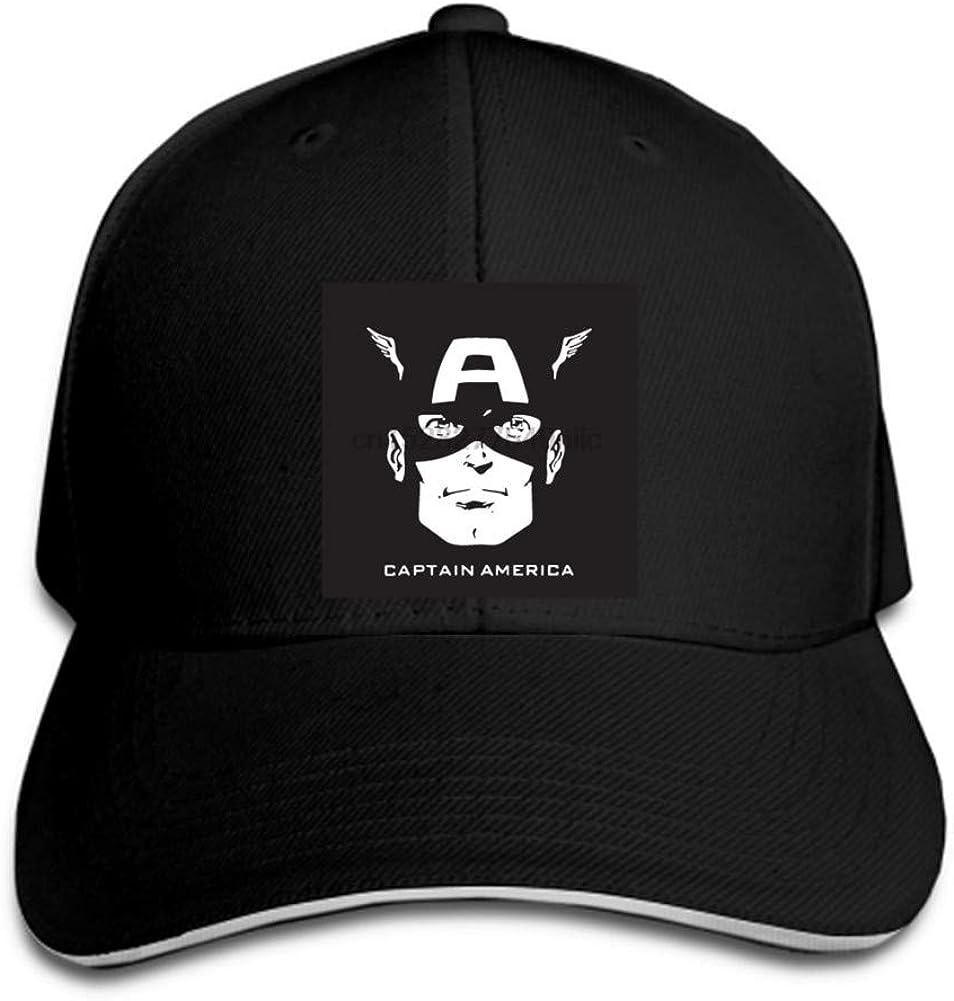 Baseball Cap Mens baseball cap Captain America logo snapback hat ladies hat Adjustable Casual Hip Hop funny Outdoor Sports Truck Peaked cap