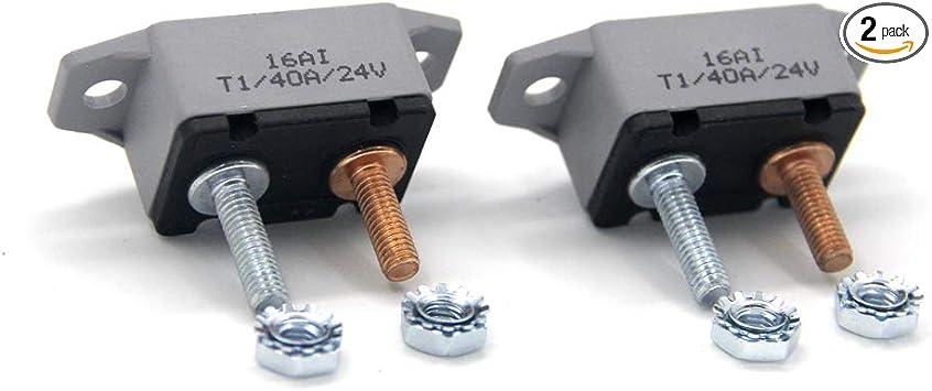 12-24V 40 Amp ATV Resettable Circuit Breaker Fuse Holder Plastic Cover 40A