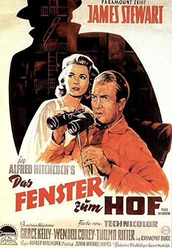Rear Window From Left Grace Kelly James Stewart 1954 Movie Poster Masterprint (11 x 17) (Kelly Movie Poster)