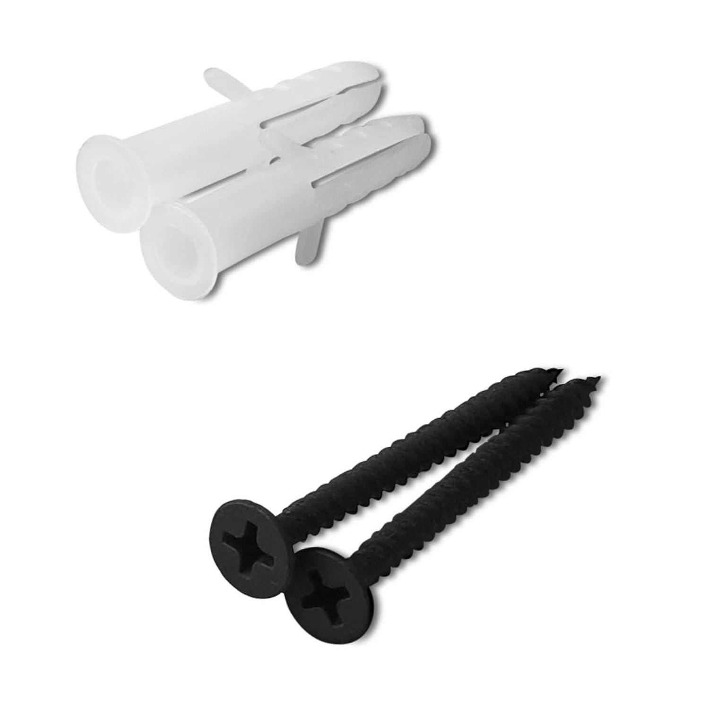 Kleiderhaken 25 x 73 x 52 mm BA 48 mm schwarz matt Einzelhaken 1-fach Bewehrungsstahl Wandgarderobe von JUNKER Design