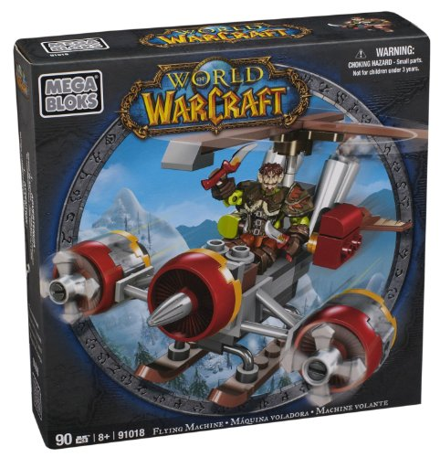 Mega Bloks World of Warcraft Flying Machine and Flint (Alliance Gnome - Warcraft Machine Flying