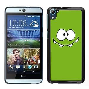 Caucho caso de Shell duro de la cubierta de accesorios de protección BY RAYDREAMMM - HTC Desire D826 - Monstruo Verde Ojos lindos
