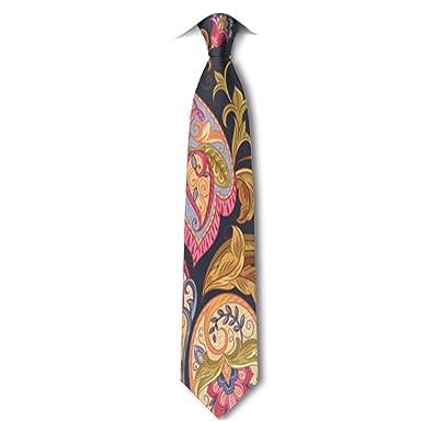Xukmefat Patrón floral de Paisley Corbata para hombre Hipster ...