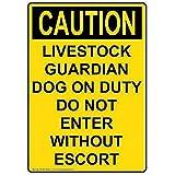 CAUTION Livestock Guardian Dog DO NOT ENTER Vinyl Decal
