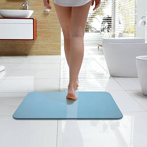 Wall Floor Shower 24 - Bazal Bath Shower Mat, Diatomaceous Earth Bath Mat,Non Slip Bathtub Mats Absorbent Fast Drying Antibacterial for Bathroom Shower Floor-24 x 15.7 x 0.8 inch