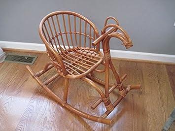 separation shoes 7d126 30856 Aashi Enterprise Cane Art Contemporary Rattan Horse Rocking Chair For Kids