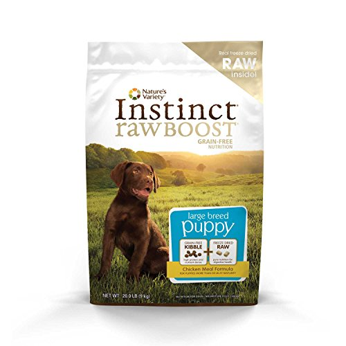 Nature's Variety Instinct Raw Boost Large Breed Puppy Grain Free Chicken Meal Formula Dry Dog Food, 20 lb. Bag