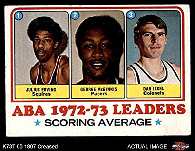 1973 Topps # 234 Julius Erving/McGinnis / Dan Issel Virginia/Indiana / Kentucky Squires/Pacers / Colonels (Basketball Card) Dean's Cards 3 - VG Squires/Pacers / Colonels