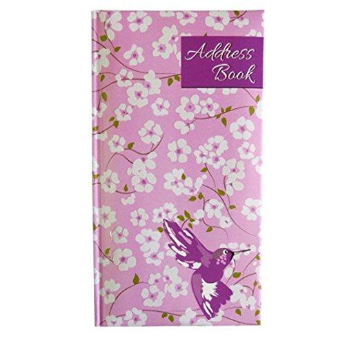 Flowers Address Book (Slim, Stylish, Padded A-Z Address Book - Hummingbird and Flowers Design)