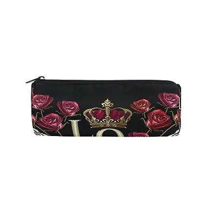 Bonie - Estuche para lápices con diseño de rosas, con cierre de ...