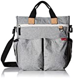 Skip Hop Messenger Diaper Bag with Matching Changing Pad, Duo Signature, Grey Melange