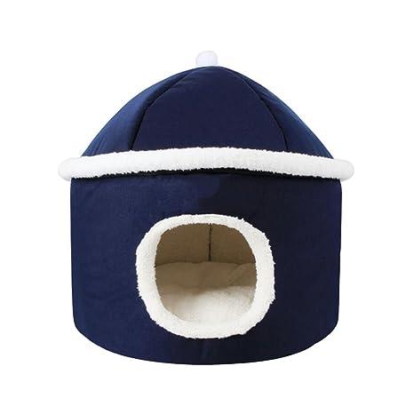 ANLEI Cama para Perros Mascotas Nest Suave y Cómodo Fácil de Limpiar Color Azul Oscuro 42