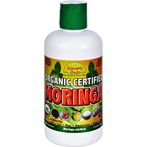 Dynamic Health Juice - Organic Moringa - 33.8 fl oz- Gluten Free - Help promote healthy living