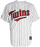 VF Minnesota Twins MLB Mens Majestic White Pinstrips Replica Jersey Size 4XL