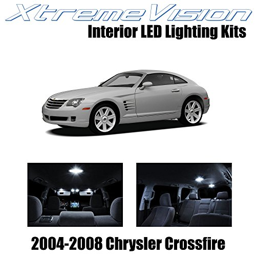 - XtremeVision Interior LED for Chrysler Crossfire 2004-2008 (6 Pieces) Pure White Interior LED Kit + Installation Tool