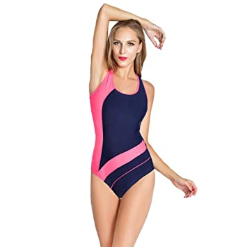 69f5f4d739 AK Beauty Womens Elegant Inspired Vintage One Piece Pin up Monokinis  Swimsuit Racing Training Athletic Swimwear at Amazon Women's Clothing store: