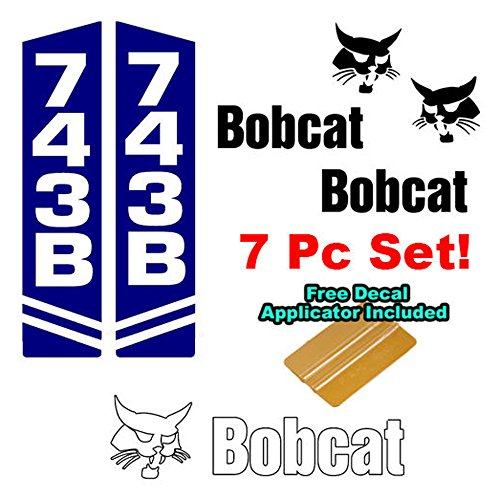 Bobcat 743 743B Skid Steer Vinyl Decal Sticker Sign 7 PC SET with Decal ()