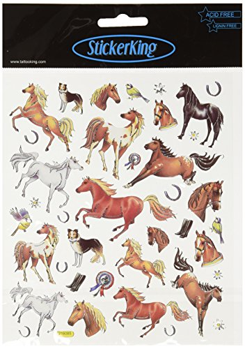 Multi colored stickers thoroughbred horses for Thoroughbred tattoo lookup