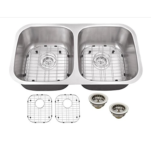 IPT Sink Company Undermount 32 in. 16-Gauge Stainless Steel Kitchen Sink in Brushed Stainless