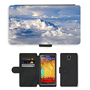 PU LEATHER case coque housse smartphone Flip bag Cover protection // M00130389 Himalaya Pájaro-Ojo Paisaje // Samsung Galaxy Note 3 III N9000 N9002 N9005