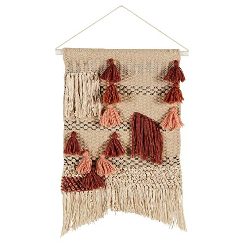 Rivet Modern Handwoven Cotton and Wool Wall Hanging, 20