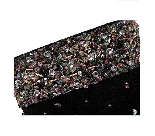 paillettes Alta Stivaletti mano Scarpe cucito 34 donne colorate punta tacco Scrubs Belle con delle Bootie 38 a pAURxqz