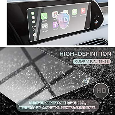 CDEFG Car Screen Protector Center Control Navigation Touchscreen Protector for 2020 Palisade Kona Sonata DN8, Tempered Glass HD Scratch Resistance (10.25 inch): MP3 Players & Accessories