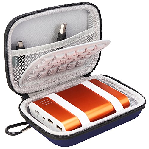 Price comparison product image BOVKE EVA Shockproof Travel Carrying Storage Case Bag for Jackery Giant+ 12000 mAh 10200mAh, RAVPower 16000mAh/13000mAh, Anker PowerCore 10400 Portable Charger Power Bank External Battery,Blue