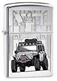 Zippo Jeep Lighter, High Polish Chrome