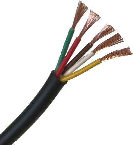 2 x 0.5mm/² 11Amps C/âble Plat, 50 M/ètre C/âble Automobile Rouge//Noir Multiconducteur 12 V 24 V 2//3//4//5//7 Fils /à paroi fine: