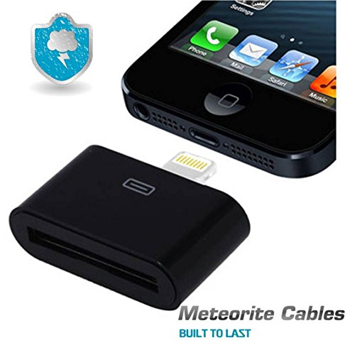 NEW Black [Certified] Iphone 8pin Lightning to 30 Pin Adapter Charging+sync Ipod