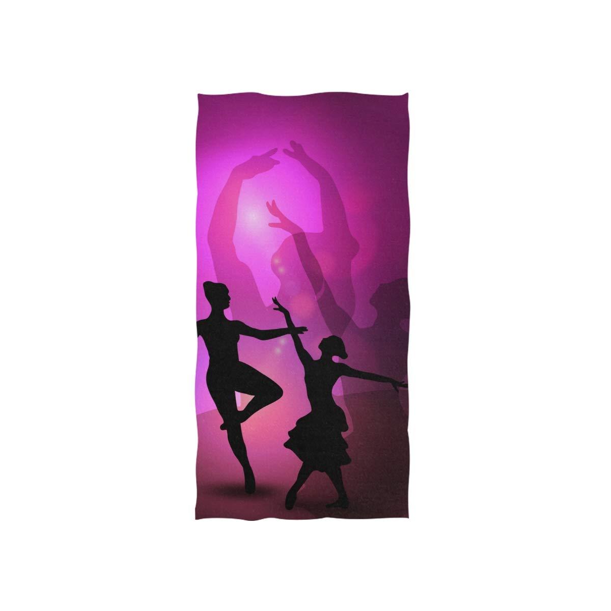 MONTOJ Serviette de Toilette tr/ès absorbante Motif Danseuse de Ballet Rose
