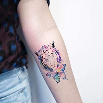 Oottati 2 Hojas Pequeño Lindo Tatuaje Temporal Tattoo Mariposa ...