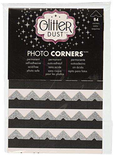 Therm O Web Glitter Photo Corners, Silver