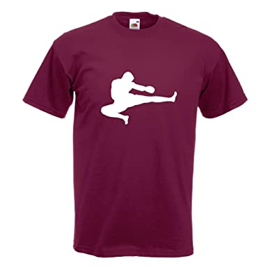 KIWISTAR - Kampfsport Karate Judo Kung T-Shirt in 15 verschiedenen Farben - Herren  Funshirt