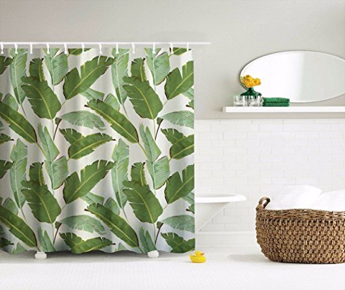 Shower Curtain Waterproof Polyester Fabric Bathroom Shower Curtain Set with Hooks 66