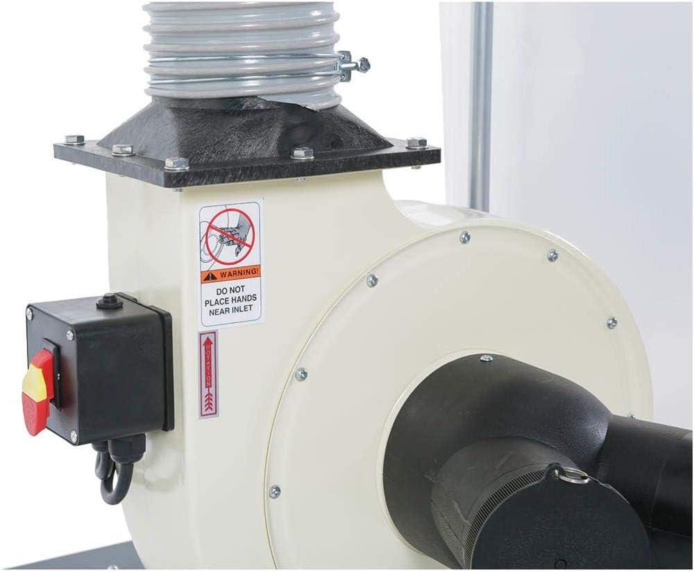 SHOP FOX W1685 1.5-Horsepower 1, 280 CFM Dust Collector - -