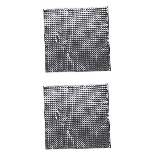 kesoto 2 Pcs Almohadilla De Aluminio Autoadhesivo Calor Aislamiento Algodón De Elástico Reemplazo Herramientas De Grabado