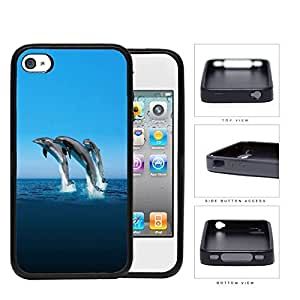 Dolphins Swimming In Ocean Rubber Silicone TPU Cell Phone Case Apple iPhone 4 4s