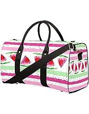 Bolsa de viaje con diseño de sandía y estampado deportivo, bolsa de gimnasio, plegable, bolsa de entrenamiento, bolsa de equipaje para llevar durante la noche, bolsa de hombro para mujeres y hombres