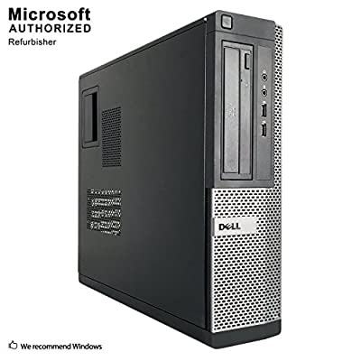 2018 DELL OPTIPLEX 390 DT Desktop Computer, Intel Core I3-2100 3.1GHz, 8GB DDR3, 1TB, DVD, WIFI, HDMI, VGA, Bluetooth 4.0, Windows 10 Professional 64 Bit (Renewed)