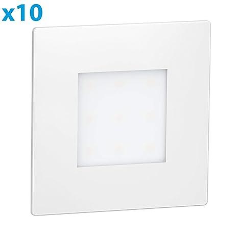 ledscom.de LED lámpara de Escalera FEX lámpara empotrable en la Pared, Blanca,