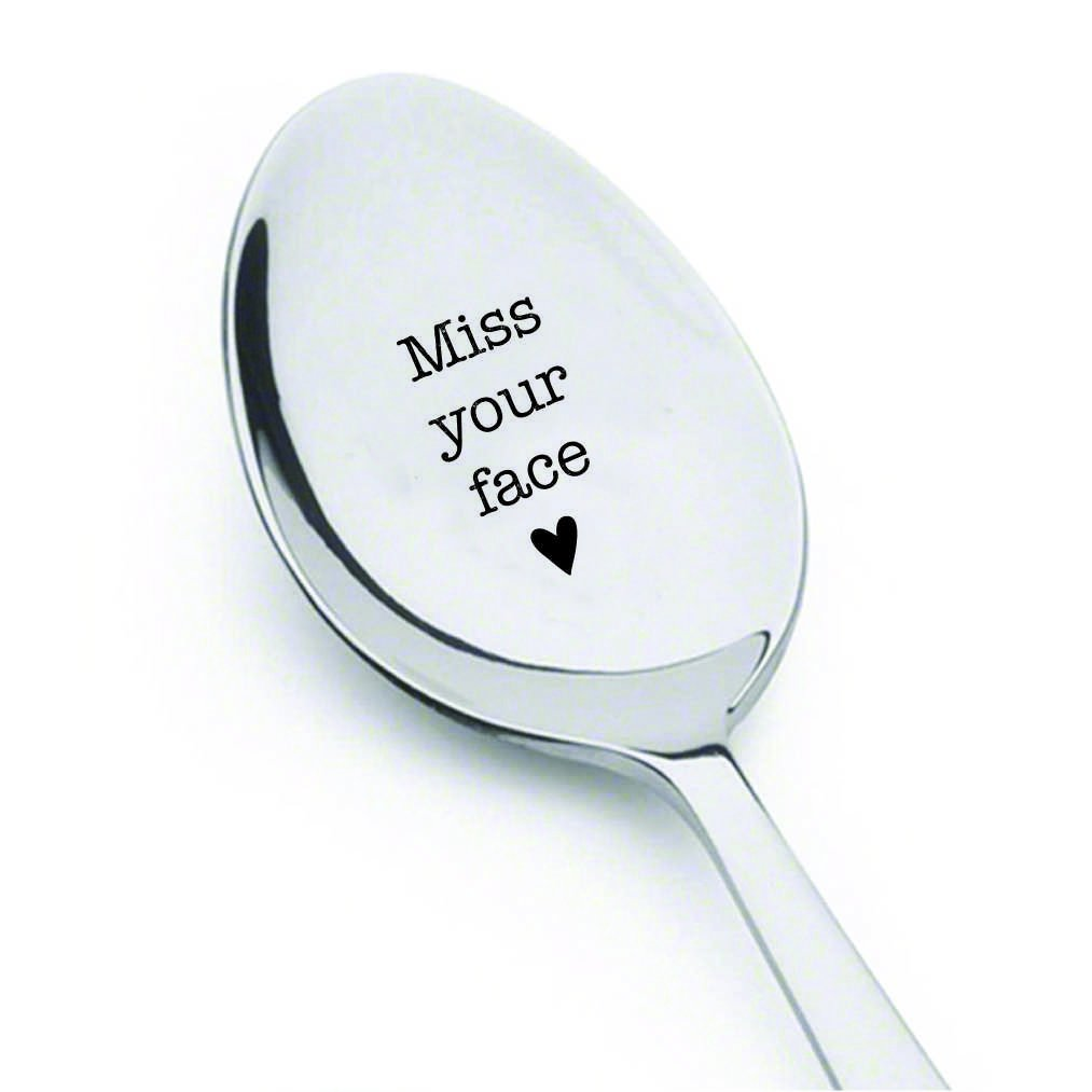 I Miss Your Face spoon - husband gifts - gift for him - keepsake gifts - gifts for her - unique gifts - travel gifts - Coffee Spoon - Long distance gift by Boston creative company