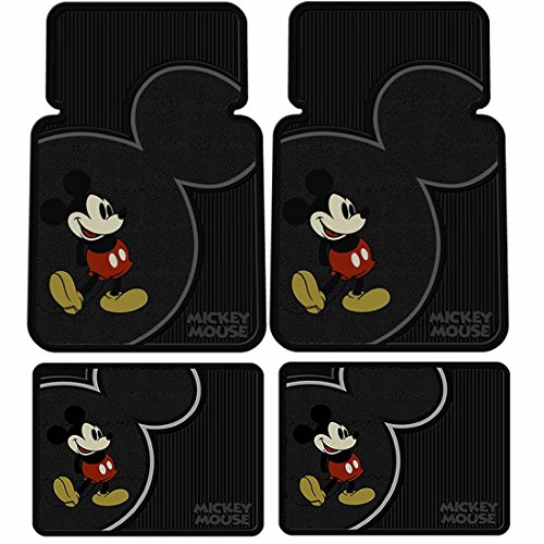 Mickey Mouse Vintage Front & Rear Car Truck SUV Seat Rubber Floor Mats
