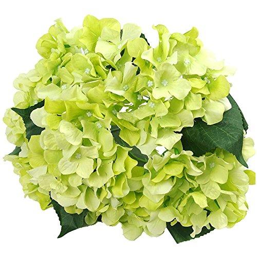 "Felice Arts Artificial Flowers 18"" Silk 7 Big Head Hydrangea Bouquet for Wedding, Room, Home, Hotel, Party Decoration"