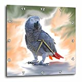 Cheap 3dRose dpp_4030_3 African Grey Parrot Wall Clock, 15 by 15-Inch