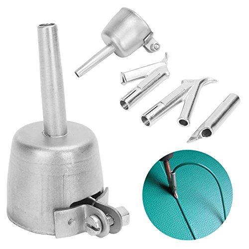4Pcs Hot Air Gun Coving Floor Speed Welding Nozzle Round Triangular 5mm Welding Tip For Plastic PVC Vinyl Welder