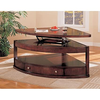 Miraculous Coaster Pie Shaped Lift Top Occasional Sectional Coffee Table Ibusinesslaw Wood Chair Design Ideas Ibusinesslaworg