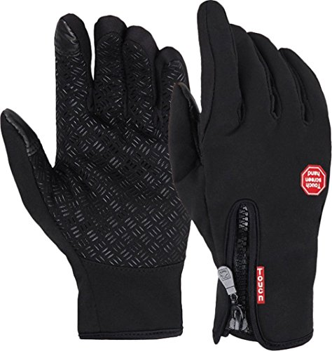 STARHOME Sports Gloves Women Winter Gloves Touch Screen Black S