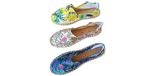 Alpargatas Boda Estampadas Flores Caja 36 Pares Mujer: Amazon.es: Zapatos y complementos